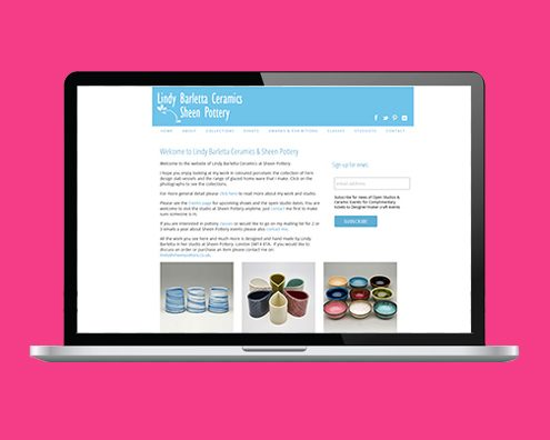 Portfolio: Sheen Pottery website by Kite Web Design