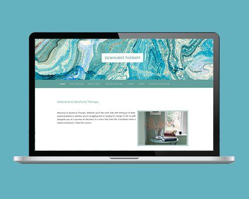 Portfolio: Dewhurst Therapy website by Kite Web Design