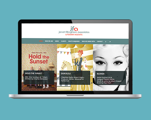Portfolio: Janet Fillingham & Associates website by Kite Web Design