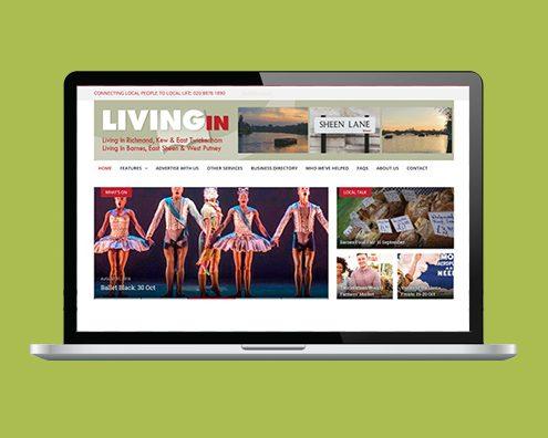 Portfolio: LivingIn magazines website by Kite Web Design