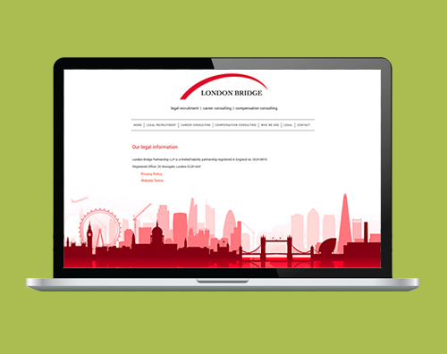 Portfolio: London Bridge Partnership website by Kite Web Design