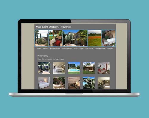 Portfolio: Mas Saint Damien website by Kite Web Design