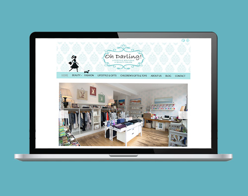 Portfolio: Oh Darling website by Kite Web Design