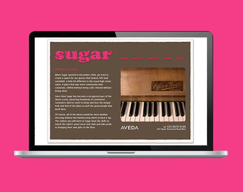 Portfolio: Sugar Hair website by Kite Web Design